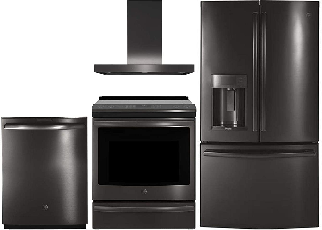 GE Profile 4 Piece Kitchen Package with PFD28KBLTS 36