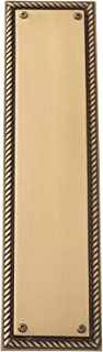 BRASS Accents A06-P0240-609 Academy Push Plate, Size: 3-1/8