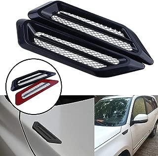 Mioloe Car Air Flow Sticker Adhesive Side Vent Fender Intake Decor Black 2Pcs