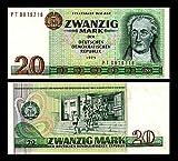*** 2 Stück 20 DDR Mark Mark Geldscheine 1975 Alte Währung - Reproduktion ***