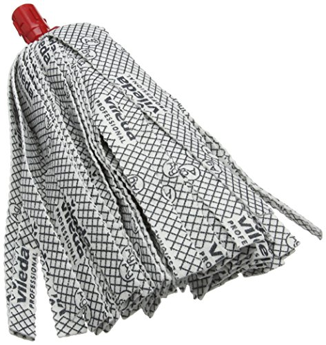 Vileda 137905 professionnel supermop Tête de rechange, rouge