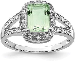 925 Sterling Silver G. Quartz Diamond Band Ring Stone Gemstone Fine Jewelry For Women Gift Set