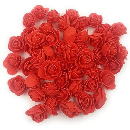 SATYAM KRAFT Artificial Rose Flower (Red, Pack of 50)