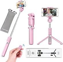 Selfie Stick - VANZAVANZU Extendable Selfie Stick Phone Tripod Monopod Detachable Bluetooth Wireless Remote Shutter for iPhone x xr xs max 6 6s 7 8 Plus Samsung Galaxy s8 s9 s10 j7 Note 9 8 - Pink