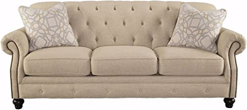 Signature Design by Ashley - Kieran Traditional Upholstered Sofa, Natural Tan