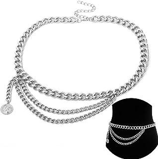 Cintura da donna metal//catena in vita Cintura guaine Abito Cintura 75-115