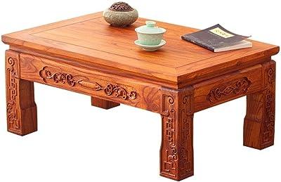 Destock Meubles Mesa de café Rectangular 1 cajón 2 tirettes ...