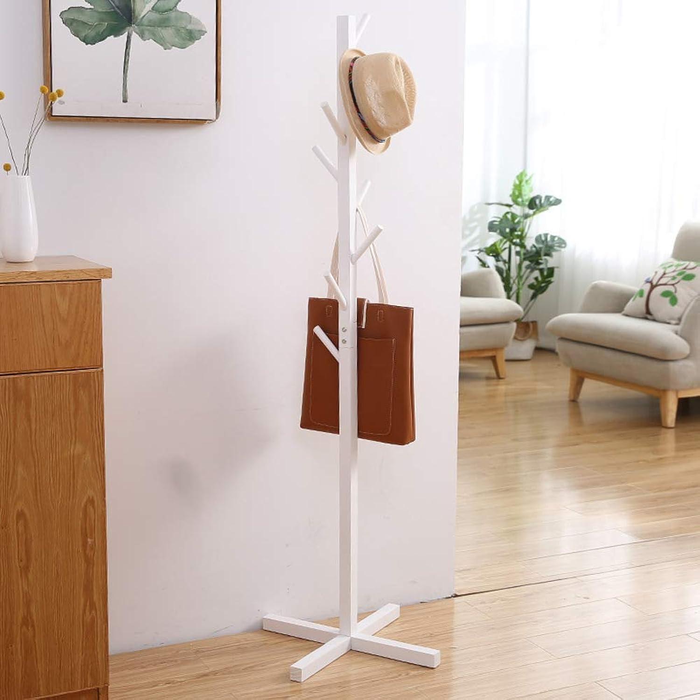Solid Wood Coat Rack,Simple Entryway Standing Hall Tree,for hat Jacket Coat Hanger Rack in Living Room Bedroom Office-T 50x165cm(20x65inch)
