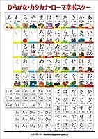 エレガンテポポ 【お風呂に貼れる】「とめ」「はね」がわかる ひらがな・カタカナ・ローマ字ポスター 学習ポスター hiragana-m