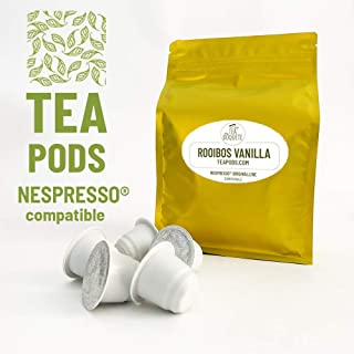 Rooibos Vanilla tea pods Nespresso compatible. Pack of 20 capsules