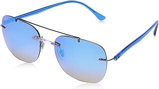 نظارات شمسية بتصميم مستطيل للرجال 0RB4226 من راي بان، هافانا لامعة، 59 ملم