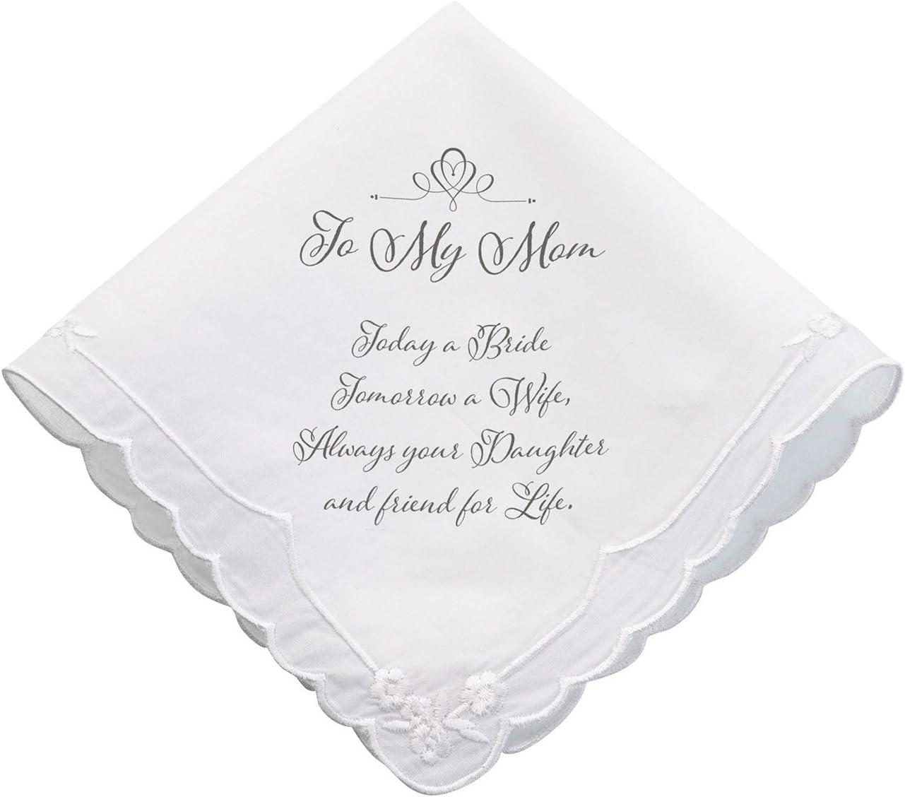 Lillian Rose Mom Wedding Gift Keepsake Hankie, 6.5