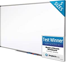 Magnetic Whiteboard | Dry Erase Board | # 1 White Board in Europe | Excellent for Office and Home - 90x60cm
