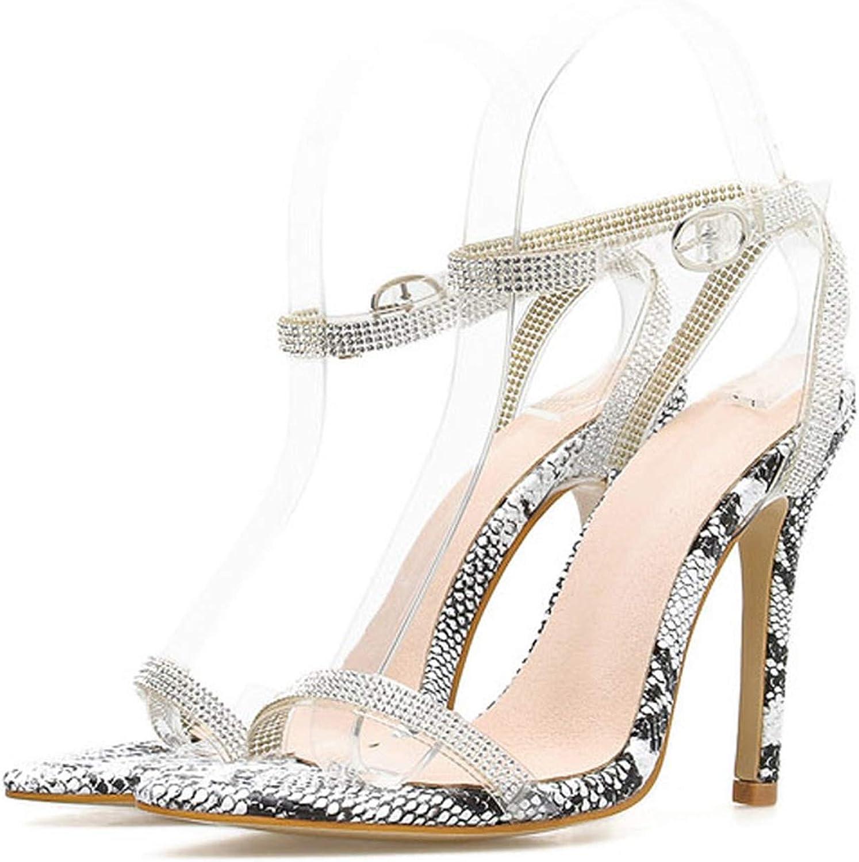 Alerghrg High Heels 11cm Transparent Crystal Size 35-42