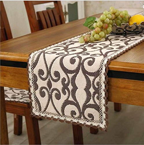1PCS 30x110 cm Vintage Made Made Polyester Table Runner Country Party Décoration de mariage , 1 , 30x180cm