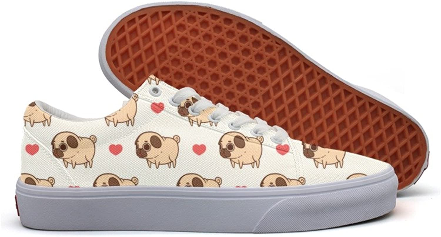 Happy Valentine's Dog Fashion Canvas Sneaker For Womns 3D Printed Low Top Running shoes