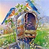 Pájaros, animales y flores DIY bordado punto de cruz 11CT 40X50CM Kit bordado artesanal Set lienzo impreso hilo de algodón