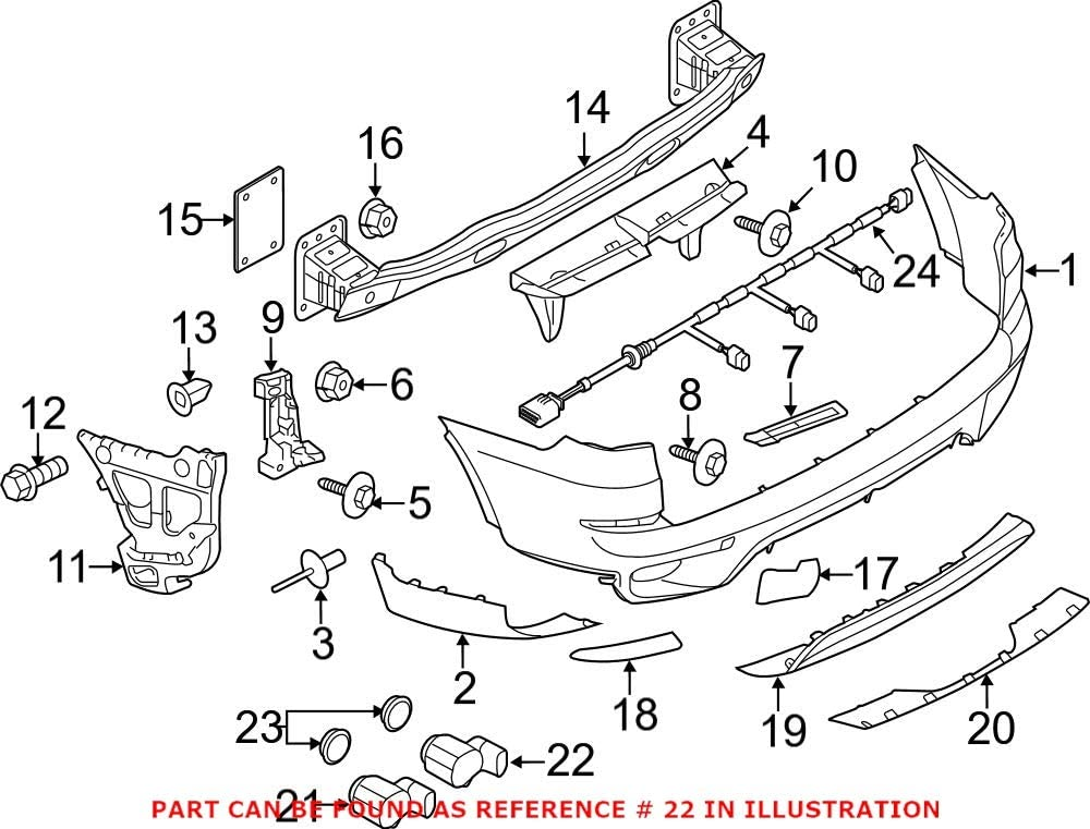 Finally Long Beach Mall resale start Genuine OEM Front Inner or Rear Outer Parking Ver Red Aid Sensor
