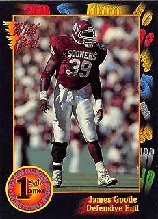 1991 Wild Card Draft Football #69 James Goode Oklahoma Sooners