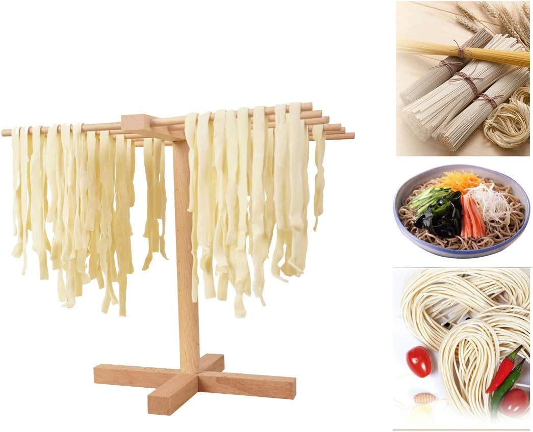 Natural Wood All stores are sold Pasta Drying Rack E Dryer Kitchen Year-end annual account Noodle Stand