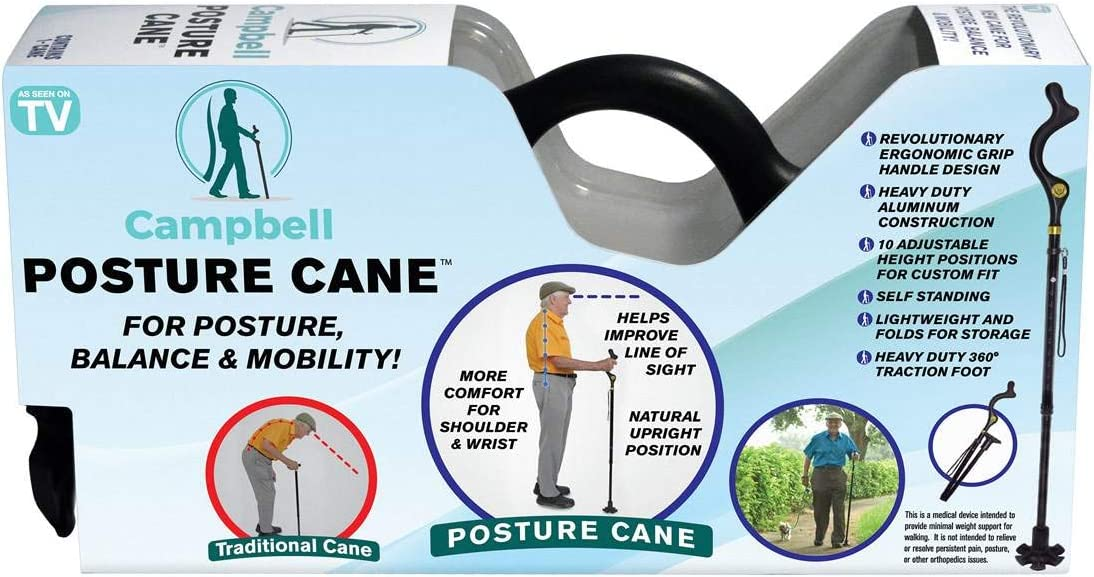 Campbell As Seen on TV Year-end annual account Posture 1 Aluminum Cane Al sold out. Walking pk
