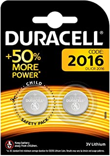 DURACELL 2016 LITHIUM COIN BATTERIES 3V (1 card of 2 Batteries)