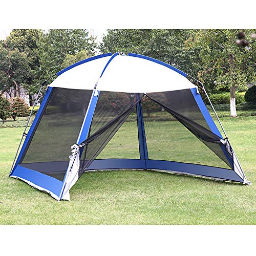 Forall-Ms 3 × 3m Gartenzelt im Freien mit Moskito-Seitennetz, Metall-Pavillon-Markise Vorhänge Decken Wasserdichte Überdachung für Camping, großes Eventzelt mit Sonnenschutz,A