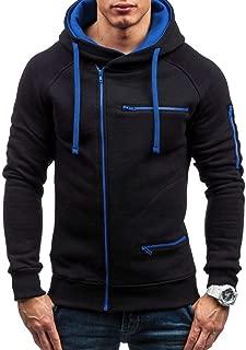 iLOOSKR Winter Warm Outwear Men Solid Zipper Long Sleeve Sport Outdoor Coat Outwear