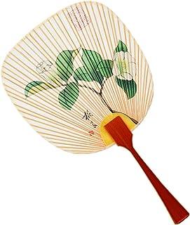 安藤商店 水うちわ 豆型 侘助/わびすけ [伝統工芸品/美濃雁皮紙/扇いで涼しく、眺めて涼しい] 日本製 ギフト プレゼント 誕生日