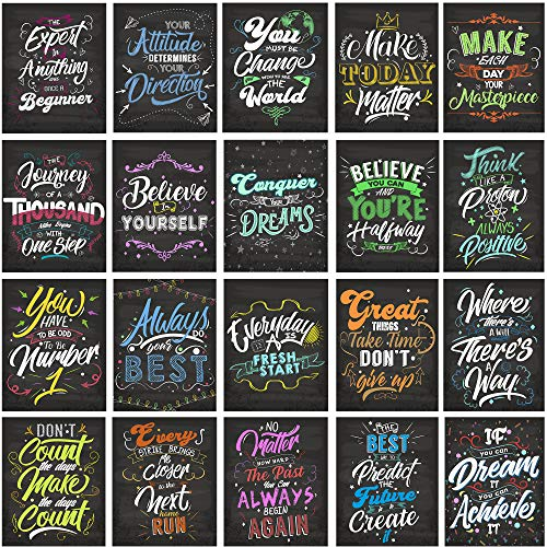 """AceConcepts 20 Laminated Motivational/Inspirational Posters, Classroom Wall Poster, Office & Home Decor - Great for Students and Teachers 13"""" x 19"""""""
