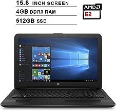 2019 Newest HP Premium Pavilion 15.6 Inch Laptop (AMD 4-Core E2-7110 1.8GHz, 4GB DDR3 RAM, 512GB SSD, AMD Radeon R2, DVD, Webcam, HDMI, Bluetooth, WiFi, Windows 10) (Black)