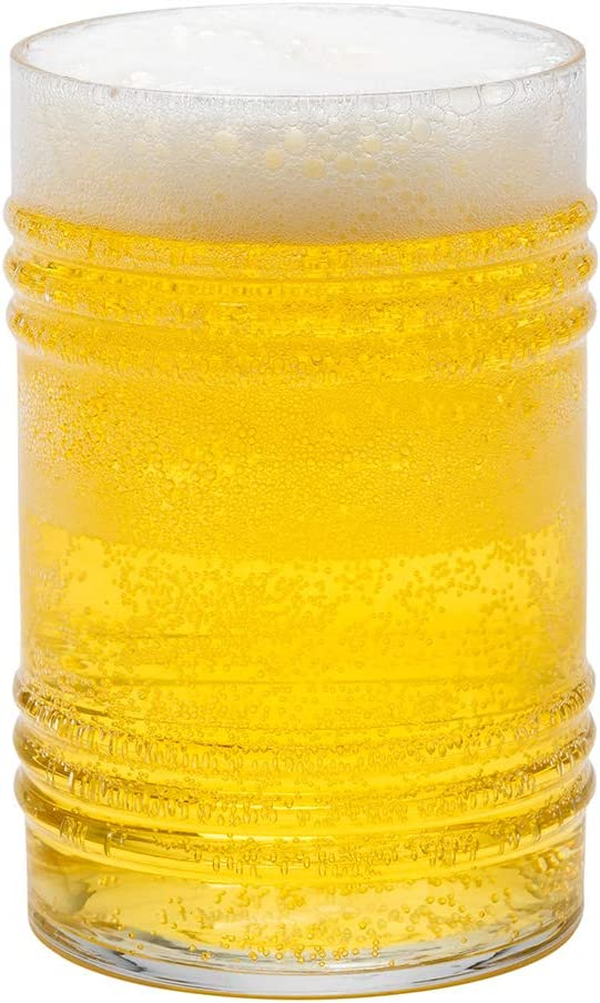 Restaurantware 14 oz Pilsner Glass Tall-Footed 2 1//2 x 2 1//2 x 9 1//2-6 Count Box