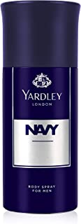 Yardley Navy Body Spray for men, Fresh marine fragrance, 150ml