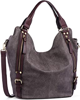JOYSON Women Handbags Hobo Shoulder Bags Tote PU Leather Handbags Fashion Large Capacity Bags