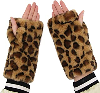 LL-partner Fingerless Fur Gloves-Smooth Furry Gloves-Soft Fuzzy Women,Girls Warmer Gloves