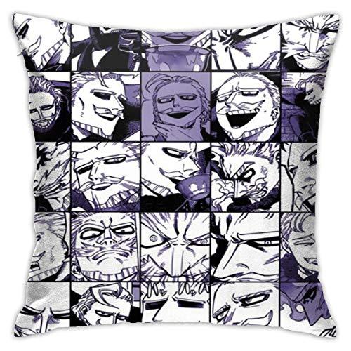 XCNGG My H-e-r-o Ac-ad-em-ia Collage Anime Gentle Criminal Federa Cuscino Fodera per cuscino Divano Decorazione della casa 18x18 pollici