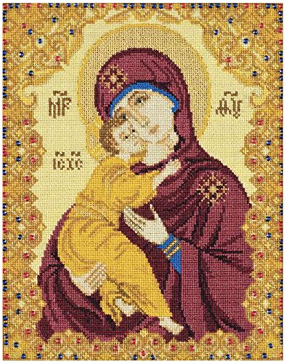 RIOLIS 1300 - Our Lady of Vladimir - Counted Cross Stitch Kit 5