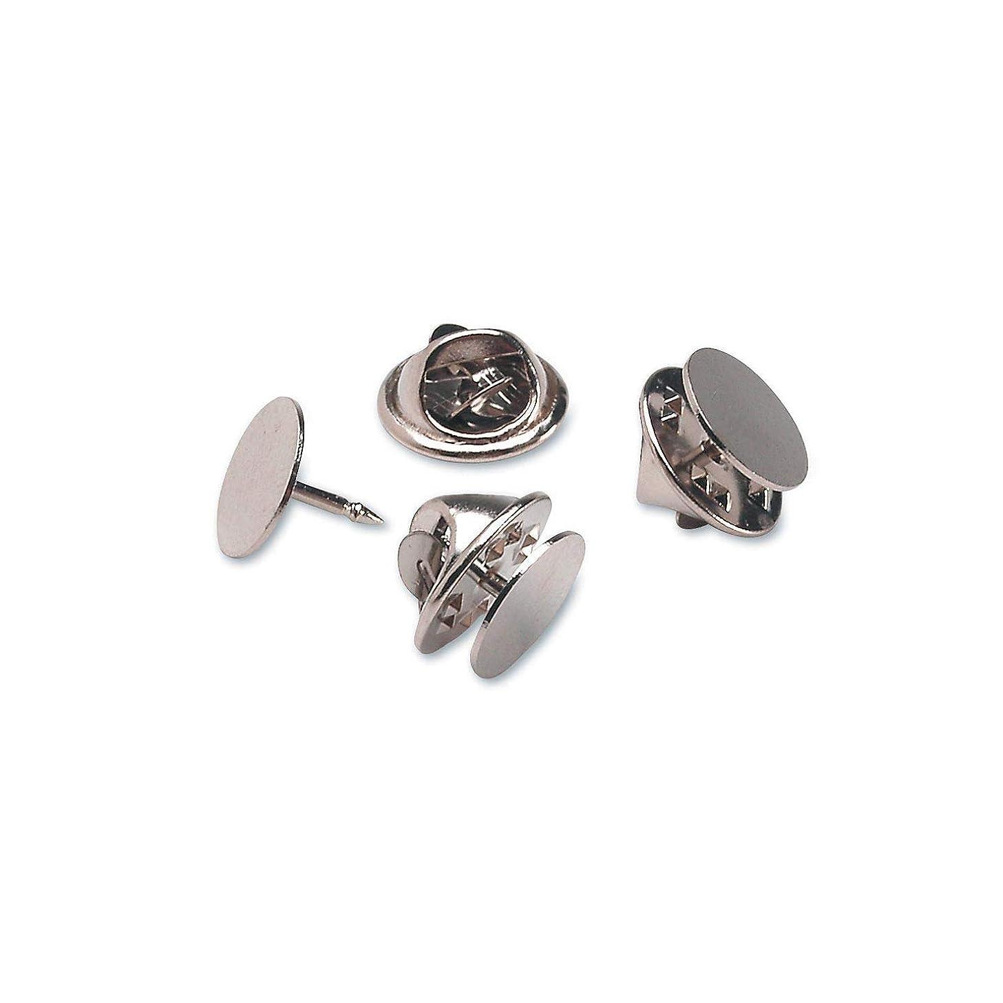 Bulk Buy: Darice DIY Crafts Tie Tacks with Clutch Nickel Plated Steel 10mm (3-Pack) 1880-76