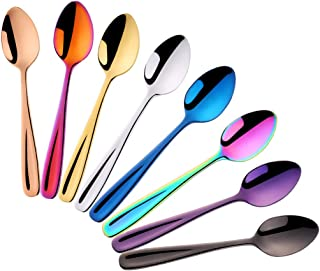 Do Buy 8 Pieces 18/10 Dessert Spoons Teaspoons Small Coffee Spoons Espresso Spoons, 5.5 Inch