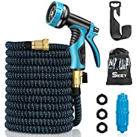 Skey 50ft Flexible and Expandable Water Hose with 9 Function Nozzle