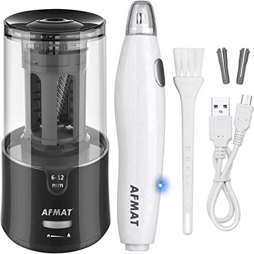 high quality AFMAT Electric sale Pencil Sharpener for Colored Pencils, Auto Stop, Super Sharp online sale & Fast, AFMAT Electric Eraser Kit,140 Eraser Refills, Rechargeable Electric Erasers for Drafting, Drawing, Crafts, Arts sale