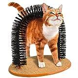 Boodtag Katzen-Kratzbogen Haarbuerste Massage Kratzern Itch Pinsel Pets Hair Tools