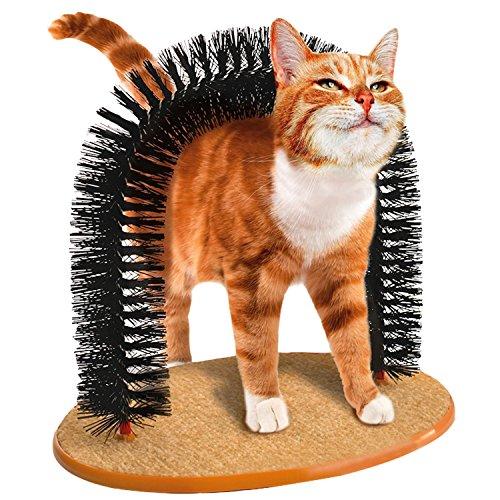 Boodtag Katzen-Kratzbogen Haarbuerste Massage Kratzern Itch Pinsel Pets Hair Tools Beauty Care Bürste
