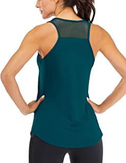 ICTIVE Workout Tank Tops for Women Breathable Mesh Racerback Tank Tops Muscle Tank Backless Running Tank Tops