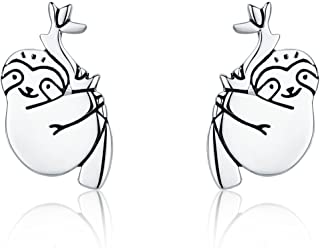 Stud Earrings for Girls 925 Sterling Silver Unicorn Pet Puppy Paw Angel Ear Studs Hypoallergenic Tiny Earring for Women with Gift Box