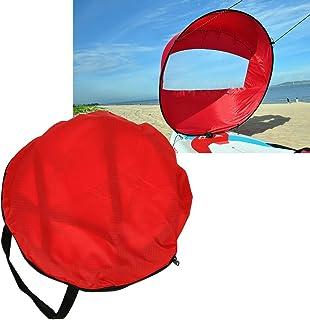 Alomejor Kayak Wind Sail Paddle Vela Plegable de 108 cm con Ventana Transparente y Bolsa de Almacenamiento Accesorios de Canoa Kayak Compacto y portátil