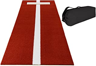 All Turf Mats Pro-Ball Softball Pitching Mat with Power Line and Case, Clay - 3 feet x 10 feet