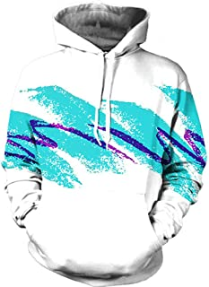 RAISEVERN Unisex 3D Realistic Digital Print Pullover Hoodie Hooded Sweatshirt S-XL