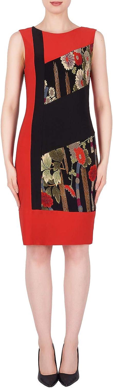 Joseph Ribkoff Lipstick Red Black Multi Dress Style 191765