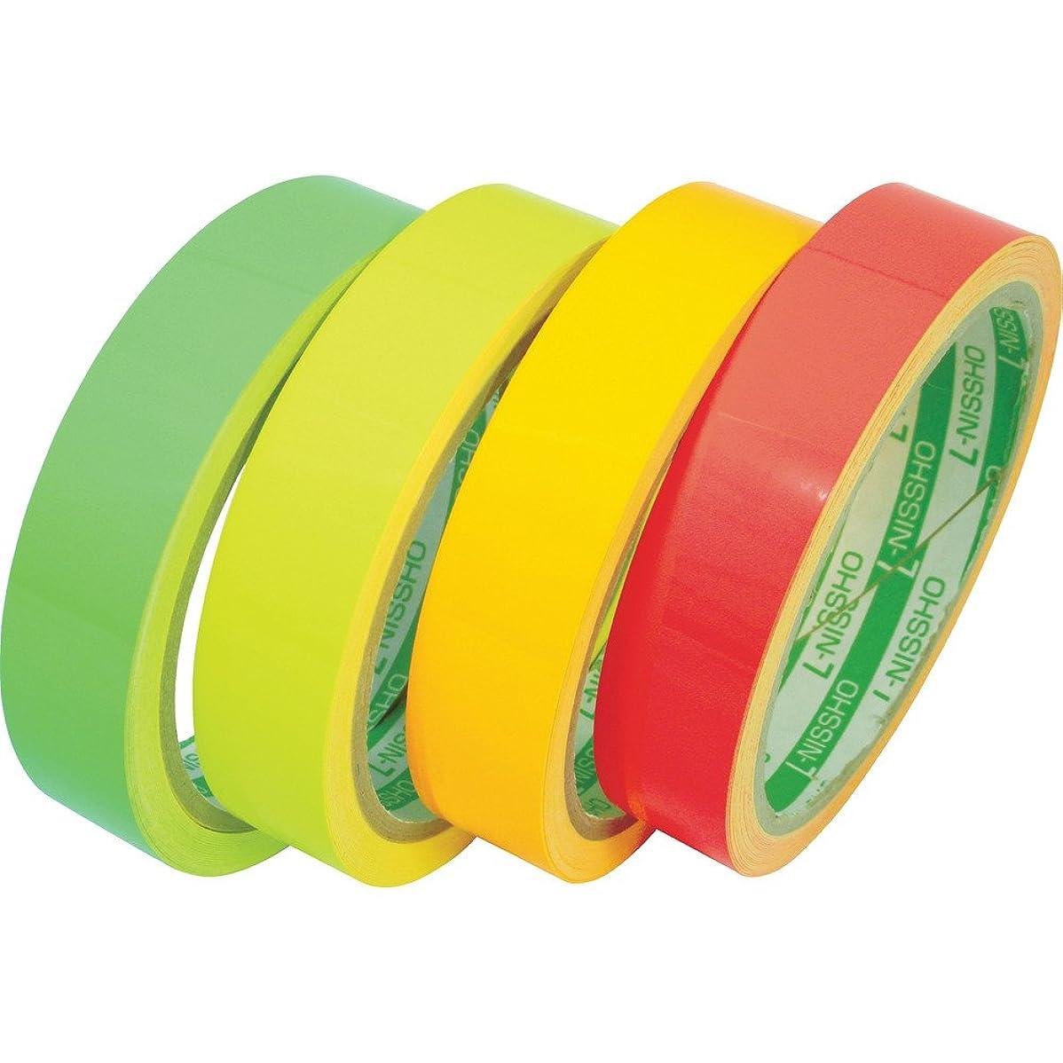 放映ワイドチップ日東エルマテ 蛍光テープ 200mmX5m レッド LK-200R 反射テープ